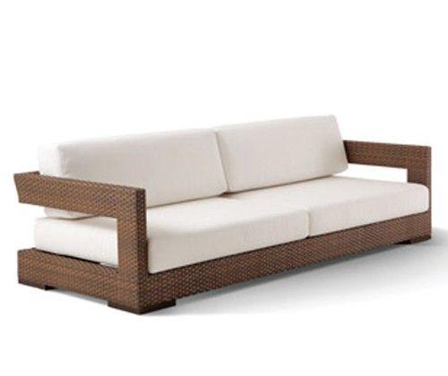 sofa reto vazado com almofadas soltas