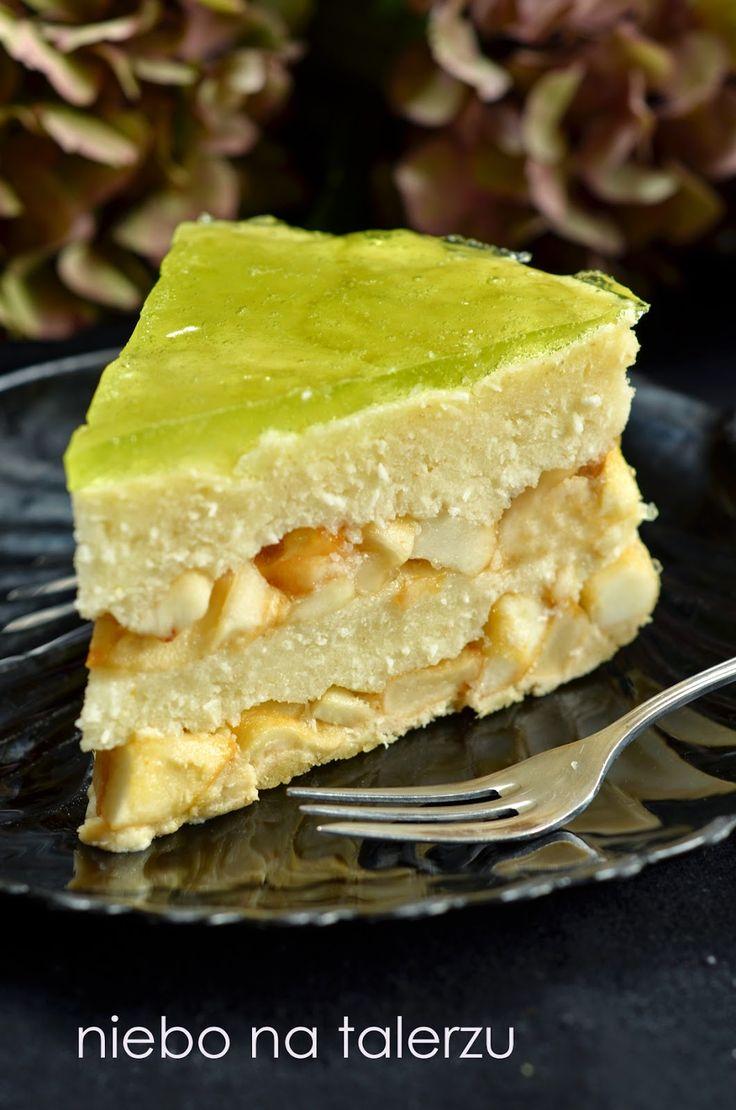 niebo na talerzu: Ciasto z jabłkami bez pieczenia