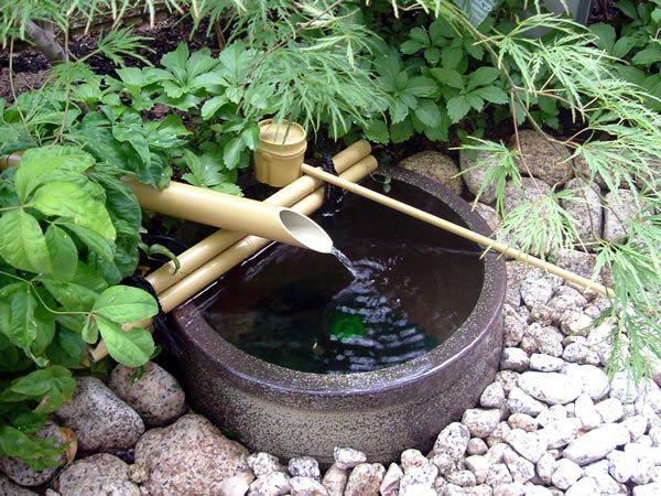 Japanese garden accent water