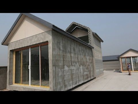GIANT 3D Printers Make Ten Houses in Only a Day! - YouTube