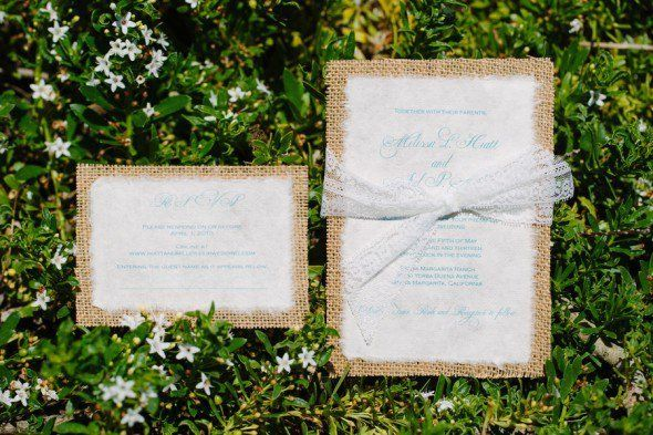Burlap Invitations - From 10 Great Ways To Use Burlap At Your Wedding