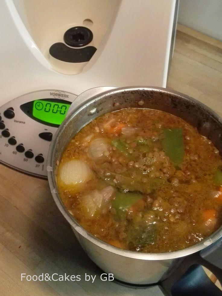 Lentejas estofadas con verduras (Thermomix)