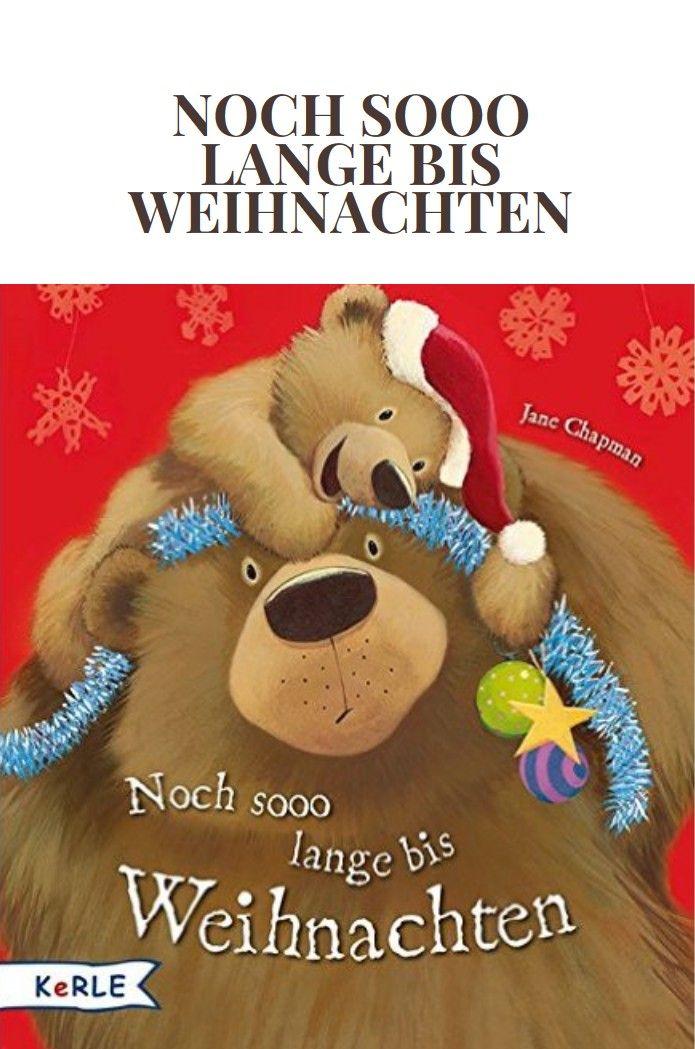 """Wann ist endlich Weihnachten? Die Wartezeit auf Weihnachtsfest kann ja sooo lang sein. Findet auch der kleine Bär in """"Noch sooo lange bis Weihnachten"""". Immer wieder fragt er den großen Bären, wann es denn nun endlich so weit wäre. Dabei gibt es doch noch eine Menge zu tun…"""