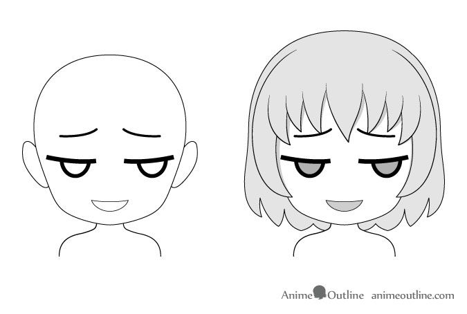 16 Drawing Examples Of Chibi Anime Facial Expressions Animeoutline Drawing Expressions Drawings Drawing Examples