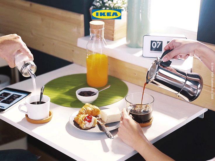 Un perete din bucătărie se transformă în locul tău preferat de băut cafeaua în fiecare dimineață.