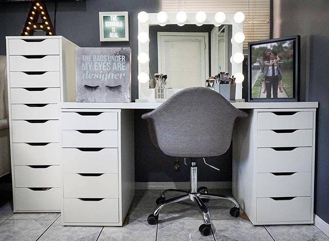 1709 best Vanity/Makeup Station Goals images on Pinterest | Makeup ...