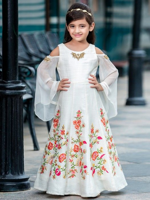 e29f2753d99b7 Silk Party Wear Designer Gown In Silk Fabric, girls gowns, kids wear fashion