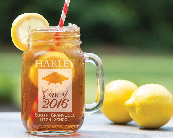 Etsy Classy Graduate Class Of 2017 Design Graduation Party Favor Gift Engraved Mason Jar Glass Personaliz