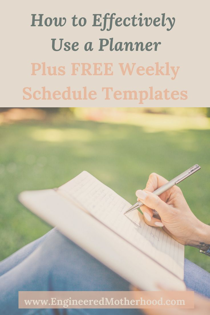 Download a FREE weekly schedule template that you can use to plan your days and weeks. Increase your productivity by learning how to use a planner!