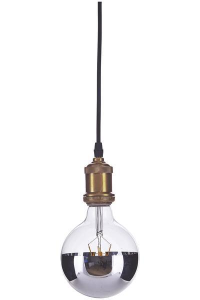 Ideal led lampe uehorizon silver uc von house doctor d nemark h ngelampe mit vintage gl hbirne