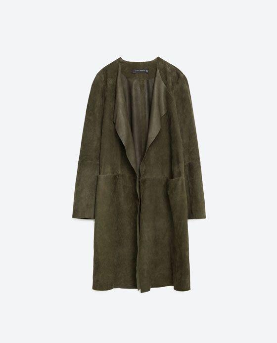 Image 8 of SUEDE COAT from Zara