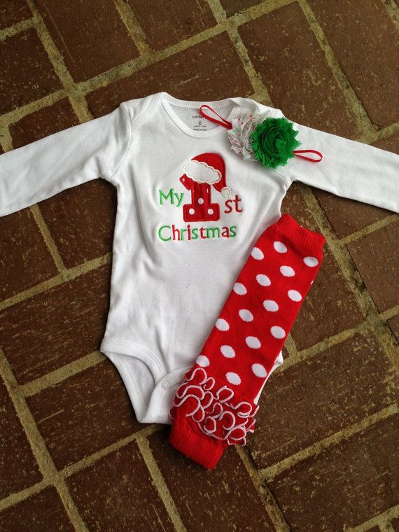 e21f34cf983a First Christmas outfit - christmas leg warmers with ruffle - personalized christmas  outfit - baby's 1st Christmas outfit on Etsy, $25.00 | Baby Phelps!