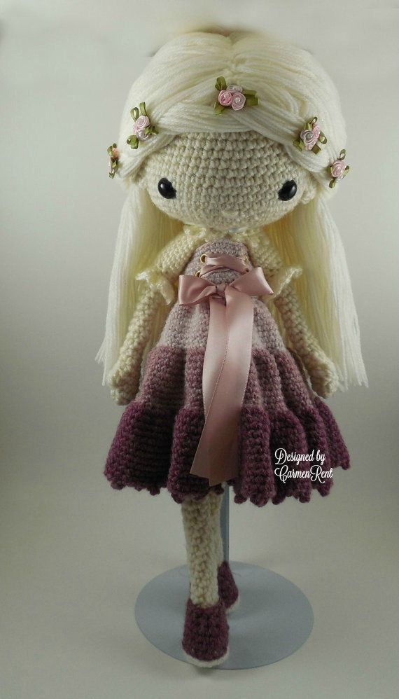 Victoria Amigurumi Doll Crochet Pattern PDF by CarmenRent on Etsy