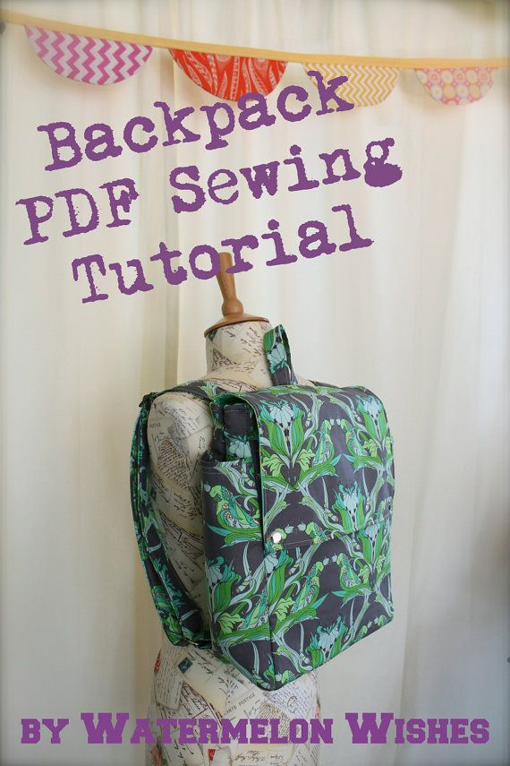 I love this sewing pattern because it is geared for the visual learner. Lots of photos and clear step by step descriptions to ensure sewing success! This particular bag would make an awesome wine tote or picnic backpack for summer adventures.