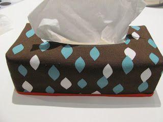 een hoes maken voor een zakdoekdoos