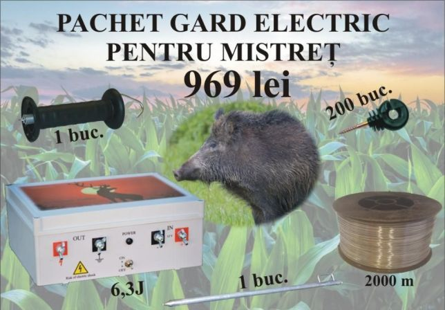 Pachete complete de gard electric pentru mistreti/ursi. Reducere Targu-Mures - imagine 1