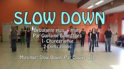 slow down line dance country - YouTube