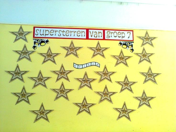 Welkom supersterren van groep 7.