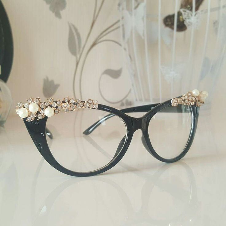 Fashion glasses with jewelry.