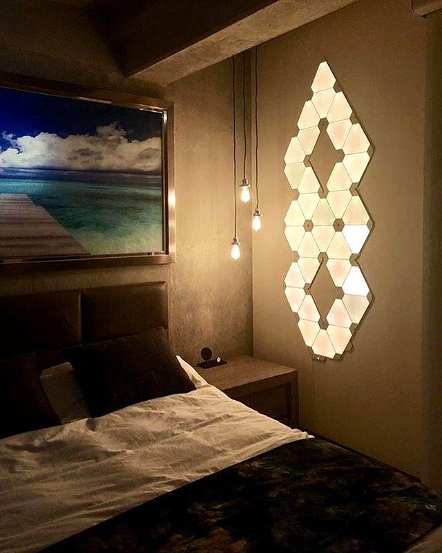 Nanoleaf Nanoleaf Instagram Photos And Videos Bedroom Setup Nanoleaf Designs Smart Lighting