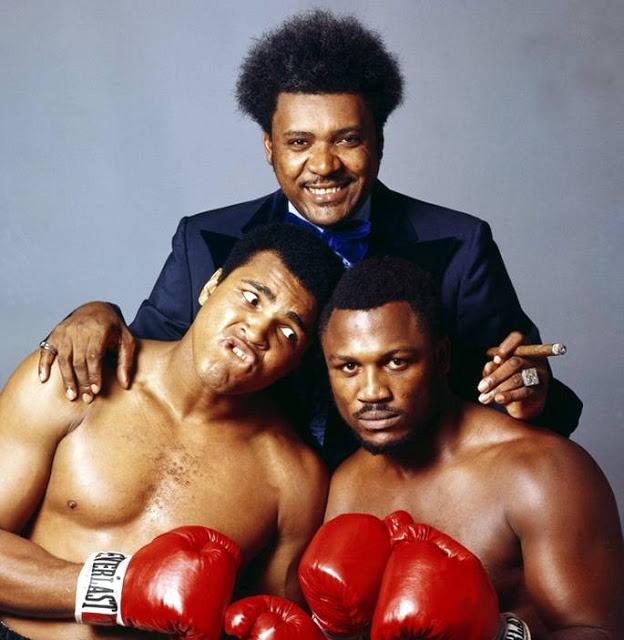 Muhammad Ali, Don King and Joe Frazier, 1975