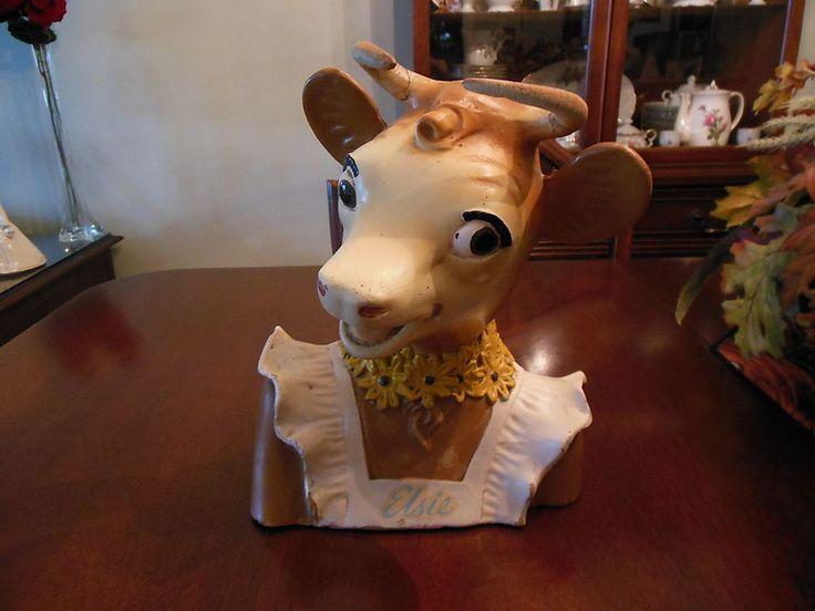 VINTAGE RARE ORIGINAL BORDEN ELSIE THE COW BUST STORE DISPLAY  #BORDENS