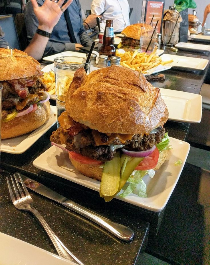 Had some gutbustin 8 pound burgers from Soda Jerks for my buddies bachelor party [OC] [1512x2688]