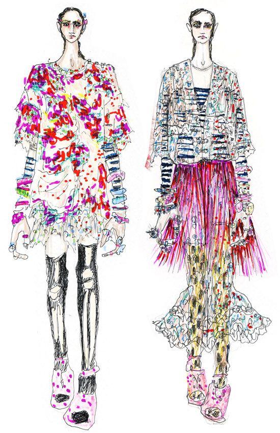 meadham kirchhoff #fashion_illustration