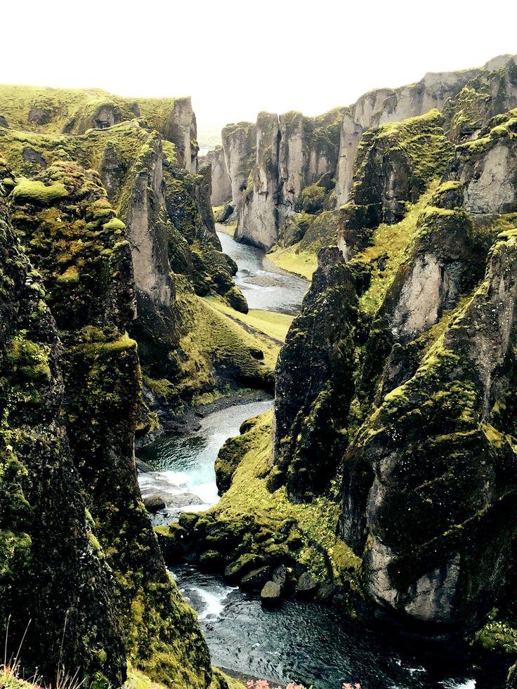 fjaðrárgljúfur canyon Iceland [2448  3264][OC] #reddit