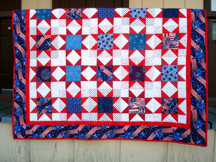 Easy Quilt Patterns For Graduation : 17 Best images about Quilts - Red, White & Blue on Pinterest Red white blue, Signature quilts ...