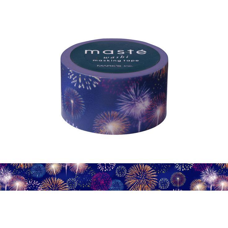 Japanese Washi Tape / Masking tape Multi Japanese2 Fireworks /masté #maste #maskingtape #washitape #fireworks #cute #diy #handmade #decoration #marks #japan