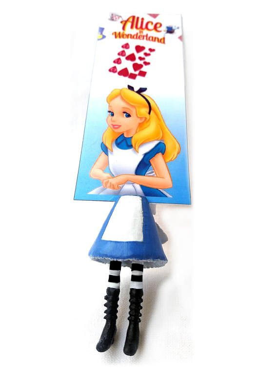 alice in wonderland bookmark 3d printed bookmark bookworm
