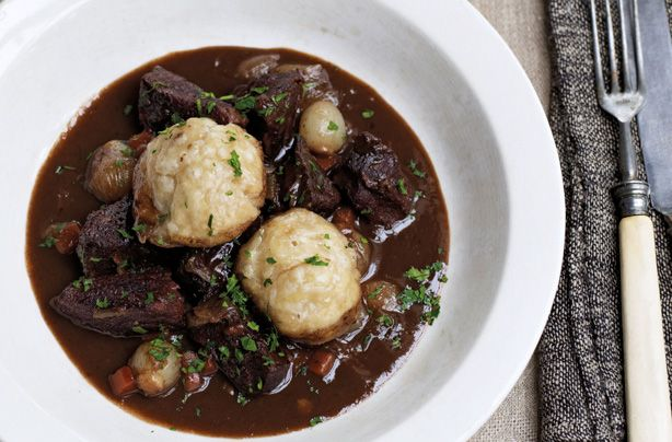 James Martin's beef stew with dumplings