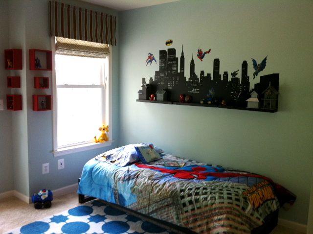 Superhero Themed Boy's Room