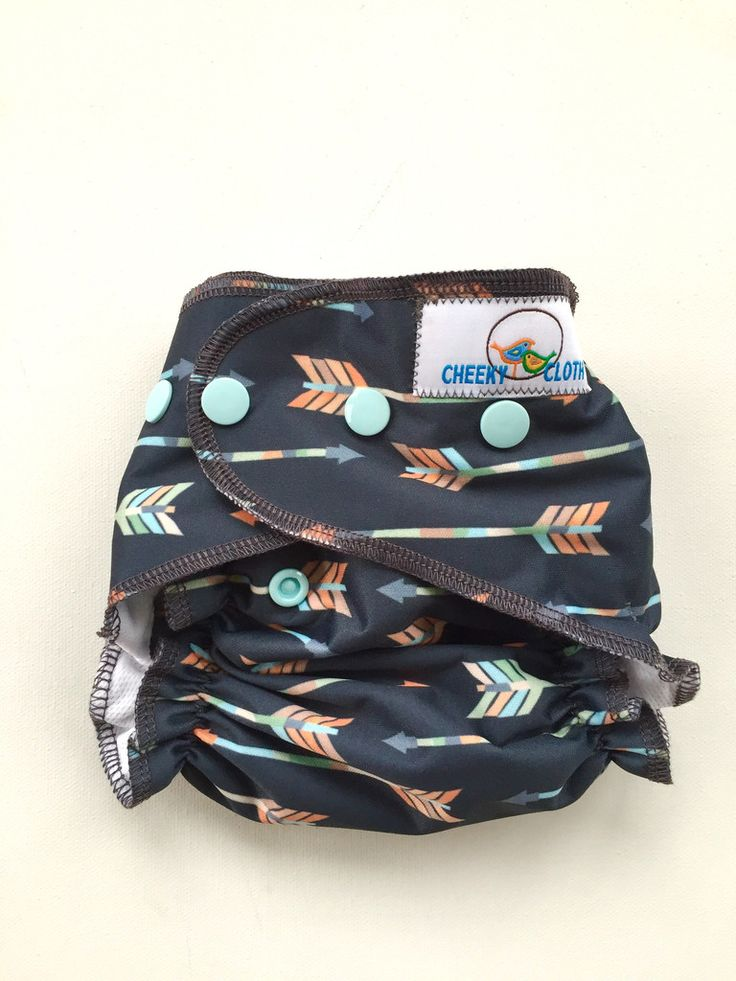 "Cheeky Cloth One Size Reusable Swim Diaper ""Arrows"""