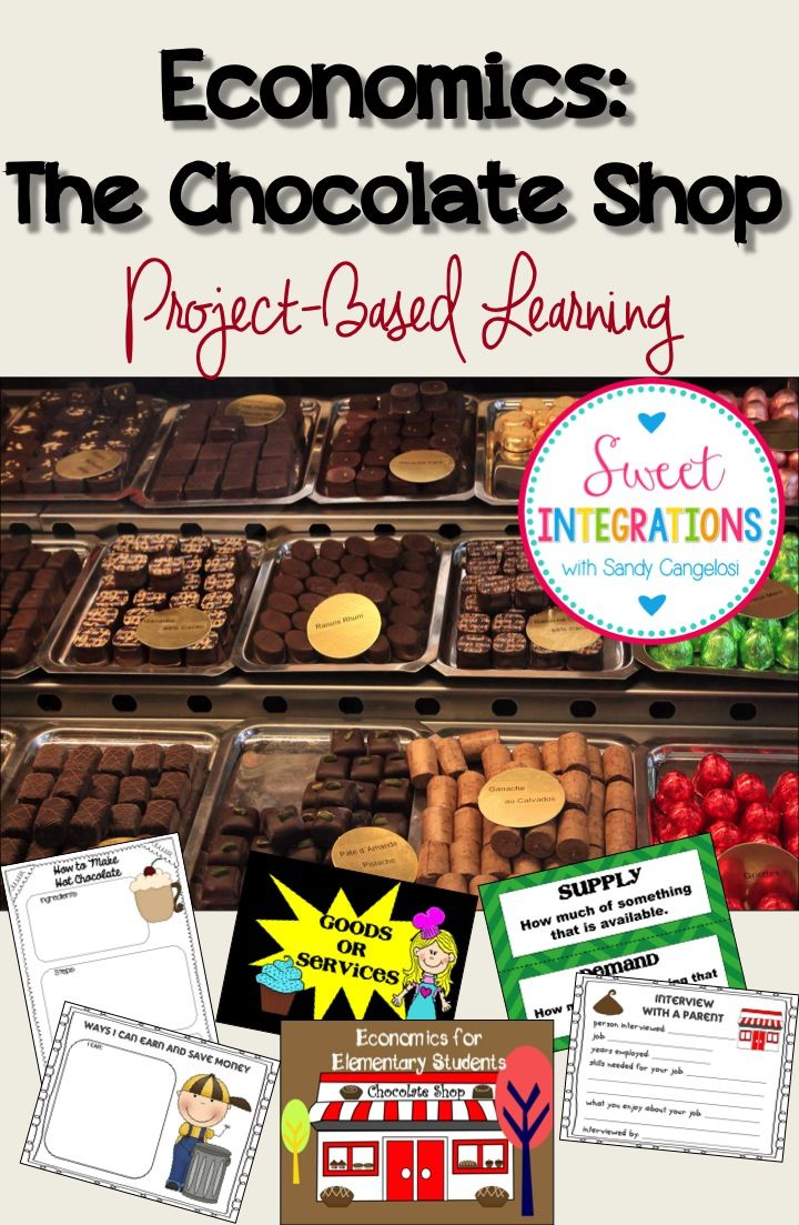 Students learn about economics, careers and chocolate as they create their own Chocolate Shop; Project Based Learning; $