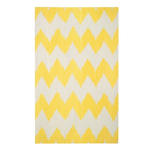 Inspired by Tory Burch: Insigna Rug in Bright Yellow from PoshTots