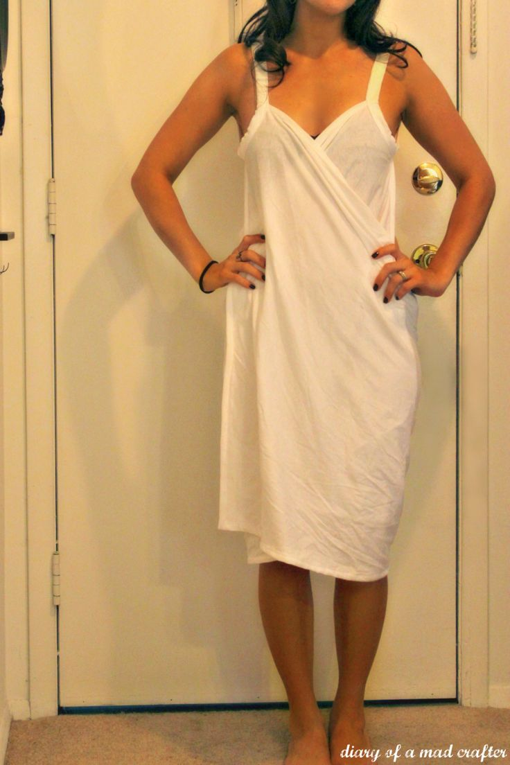 Bathing suit wrap tutorial (might be better to travel with than a robe if I made it in black)