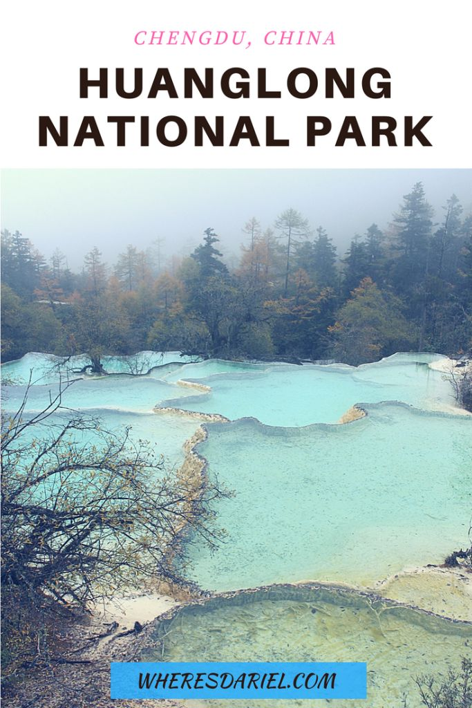 UNESCO World Heritage listed Huanglong National Park in Chengdu, China is what scenes out of National Geographic looks like. The travertine landscape with beautiful colourful ponds make any visitor feel like they are in a different world.
