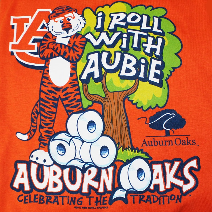 "This youth ""I Roll With Aubie"" tee by New World Graphics will show your love for the Toomer's traditions and Auburn itself. 100% Preshrunk Cotton. 