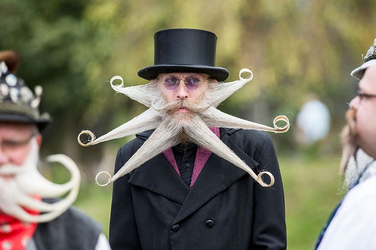 The 2015 World Beard And Moustache Championships, held in the town of Leogang in the Austrian mountains [BoredPanda]