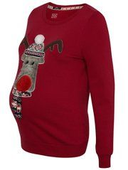 Maternity Rudolph Christmas Jumper