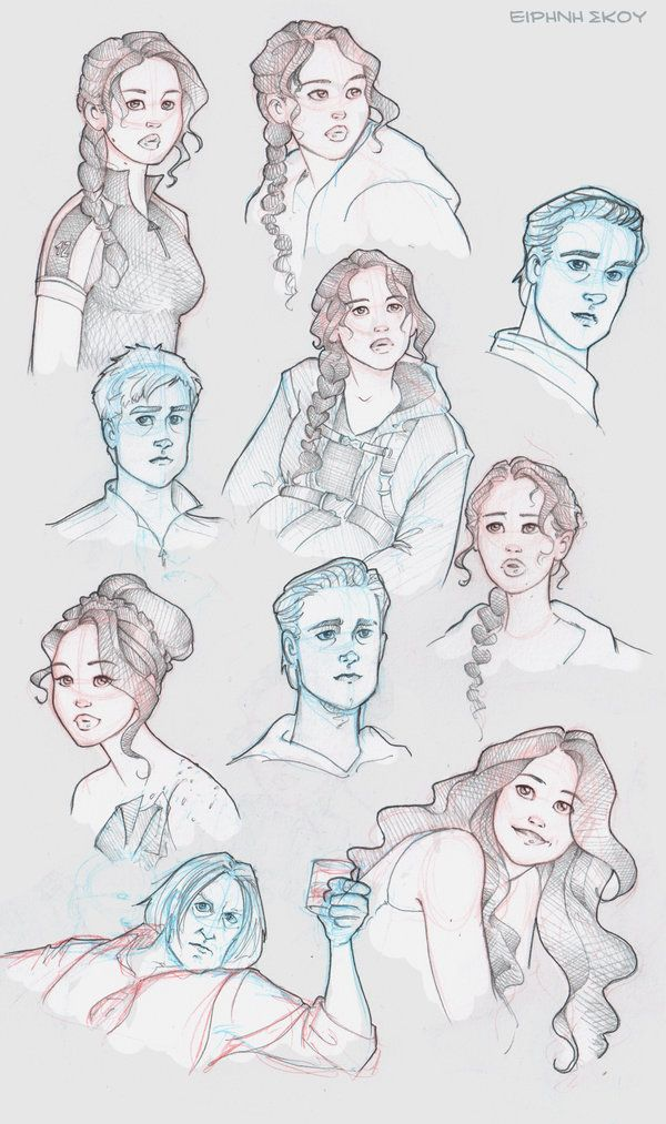 Hunger Games sketchdump by Ninidu.deviantart.com on @deviantART // Hunger Games fan art