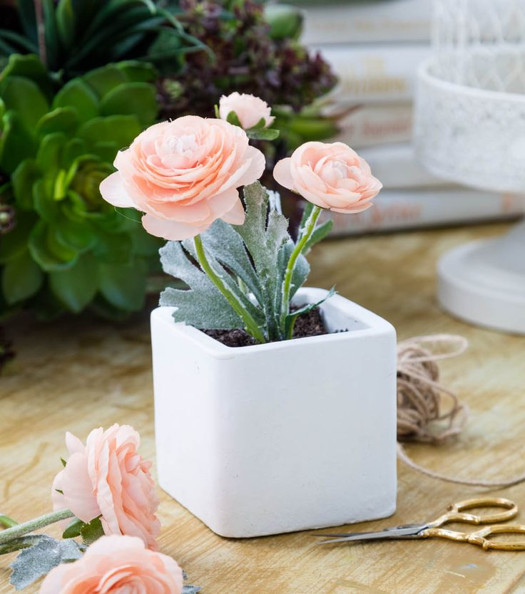 Bloom Room Square Ceramic Floral Arrangement