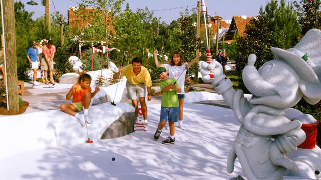 Mini Golf at Disney.  Reviews say this is a better course for kiddos...
