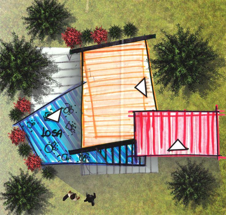 Esquema de Planta - Casa campestre Parcelación Veranda - Envigado - Antioquia