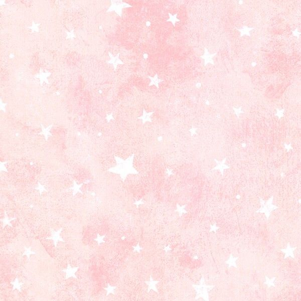 White Stars On Pink Wallpaper