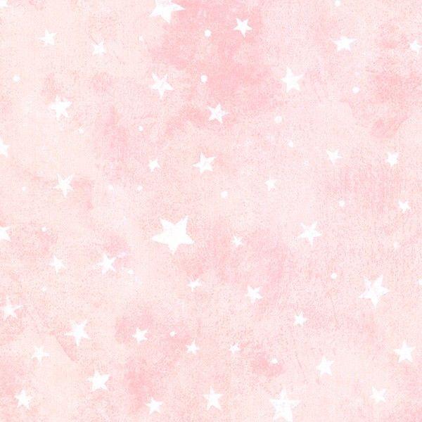 White Stars On Pink Wallpaper