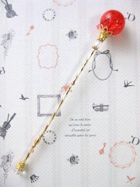 ミニチュア魔法の杖 *クリスタルロッド* ドール小物