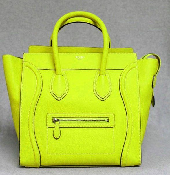 Celine neon yellow bag | Handtaschen | Pinterest | Neon yellow ...